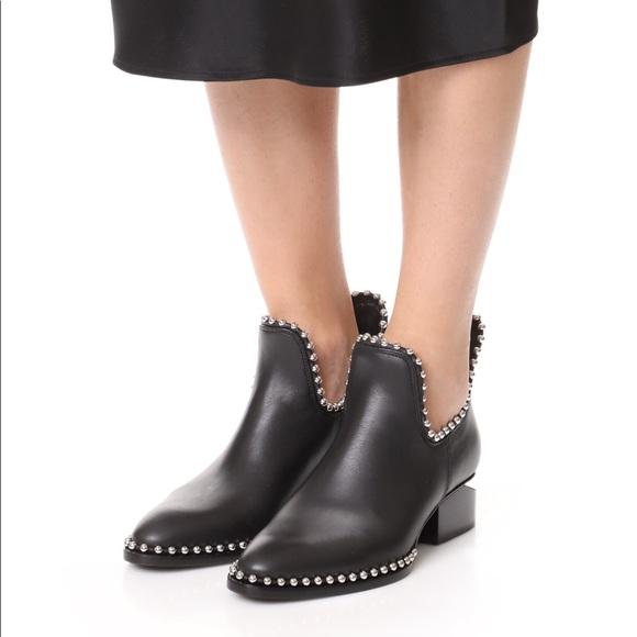 da3db0795f44c Alexander Wang Shoes - Alexander Wang Kori Cutout Leather Ankle Booties